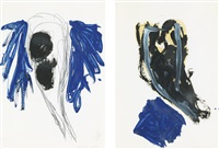 untitled [two works] by georg baselitz
